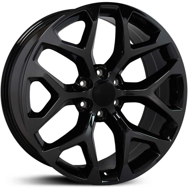 GMC Sierra 1500 Style (CV98)  Wheels PVD Black Chrome