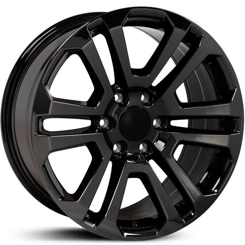 GMC Sierra 1500 Style (CV99)  Wheels PVD Black Chrome
