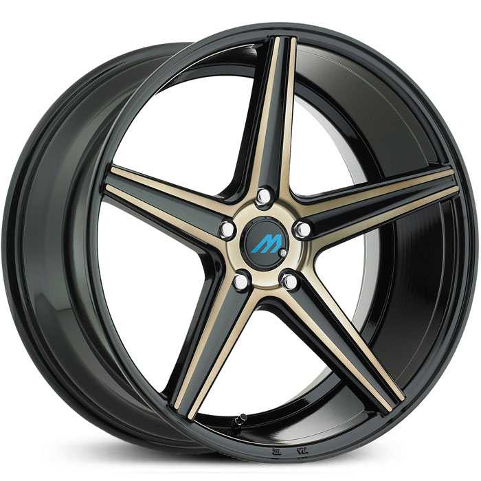 Mach ME1  Wheels Gloss Black Titanium Face