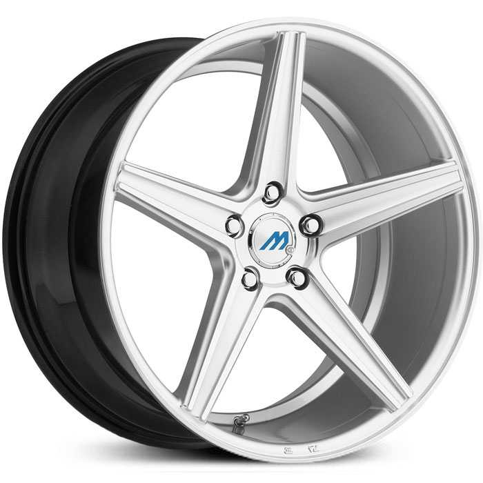 Mach ME1  Wheels Hyper Silver Machined Face