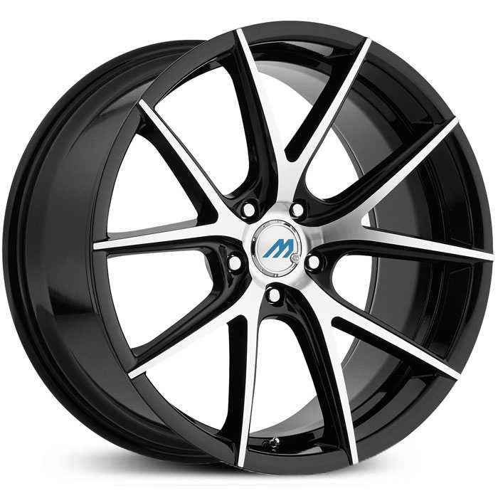 Mach ME15  Wheels Gloss Black Machined