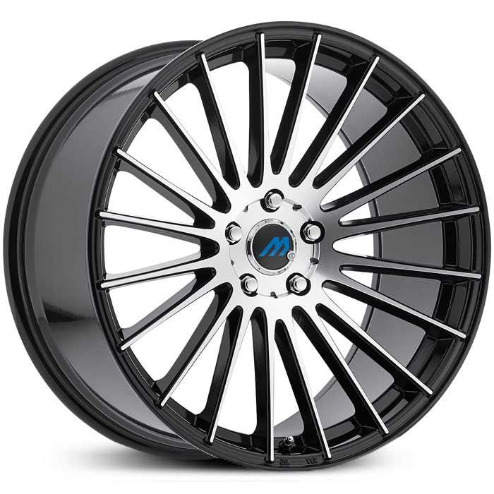 Mach ME18  Wheels Gloss Black Machined