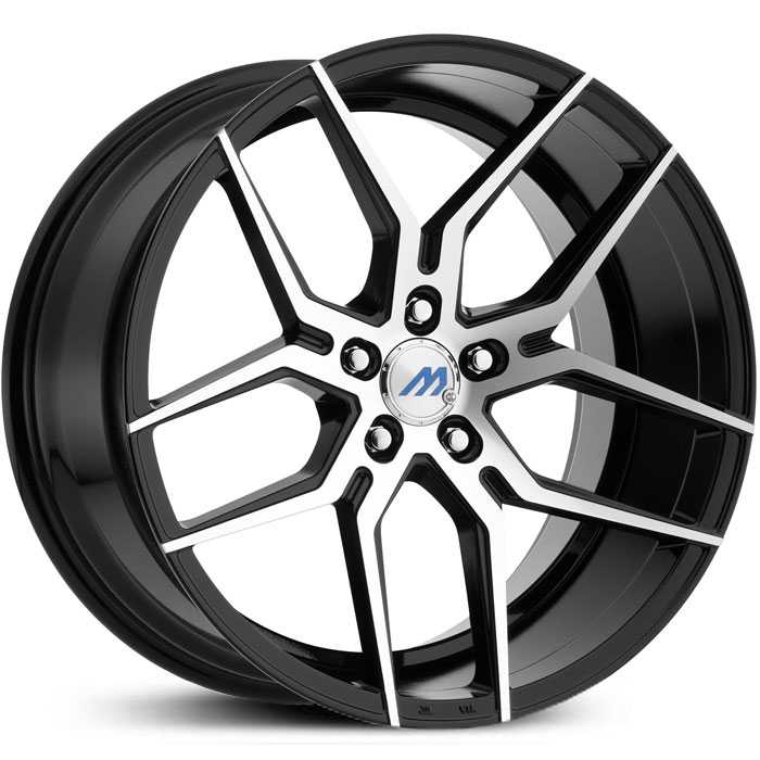 Mach ME4  Wheels Gloss Black Machined