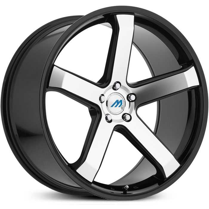 Mach ME5  Wheels Gloss Black Machined