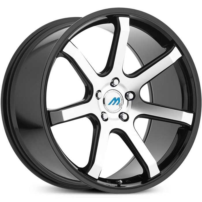 Mach ME7  Wheels Gloss Black Machined