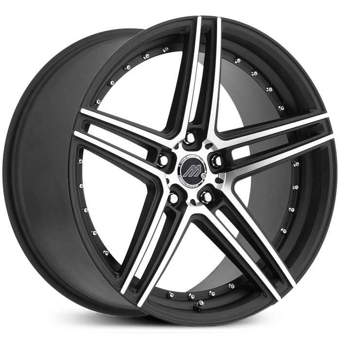 Mach Track Series MT2  Wheels Satin Black Machined