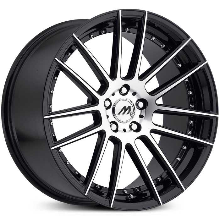 Mach Track Series MT7  Wheels Satin Black Machined
