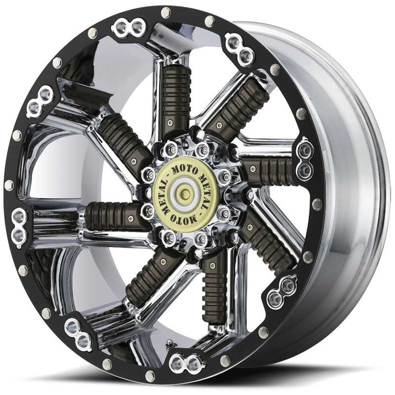 Moto Metal MO979 Buckshot  Wheels Chrome w/ Gunmetal Inserts
