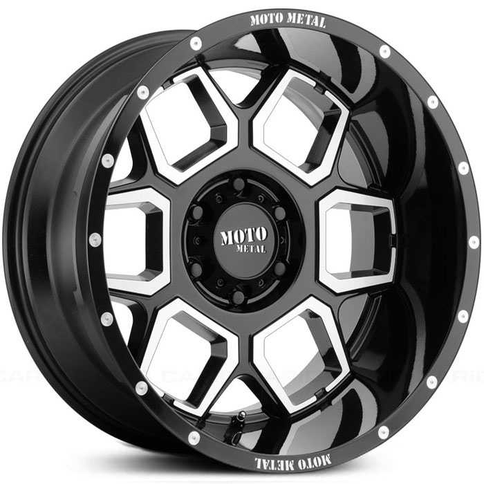 MO981 Spade Gloss Black Machined