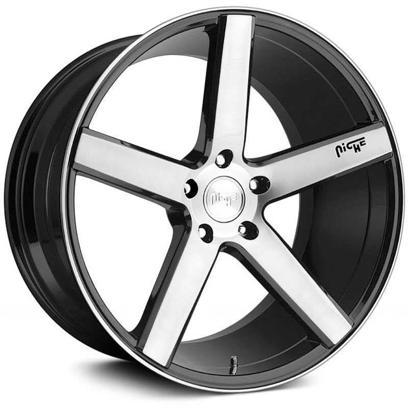 Niche M124 Milan  Wheels Gloss Black & Machined
