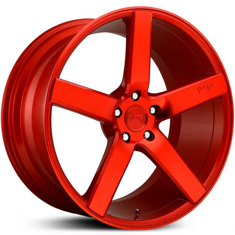 Niche M187 Milan  Wheels Gloss Candy Red