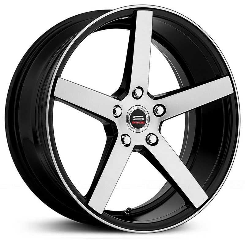 18x8 Spec-1 SP-36 Gloss Black Brushed HPO