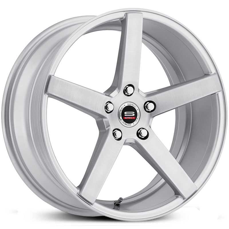 18x8 Spec-1 SP-36 Silver Brushed HPO