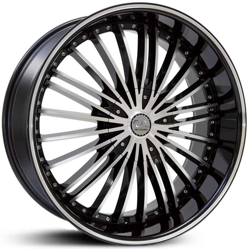 U2 10  Wheels Black Machined