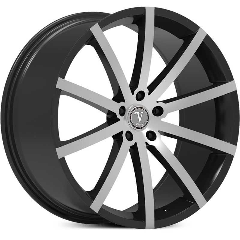Velocity VW-23A  Wheels Black Machined Face