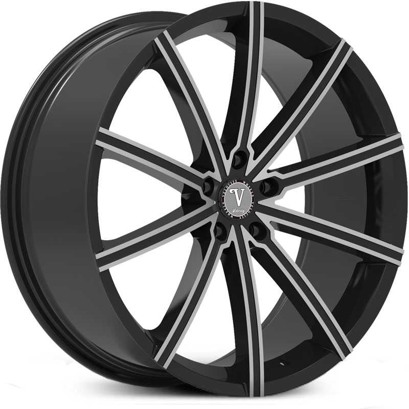 Velocity VW-23A  Wheels Black Milled