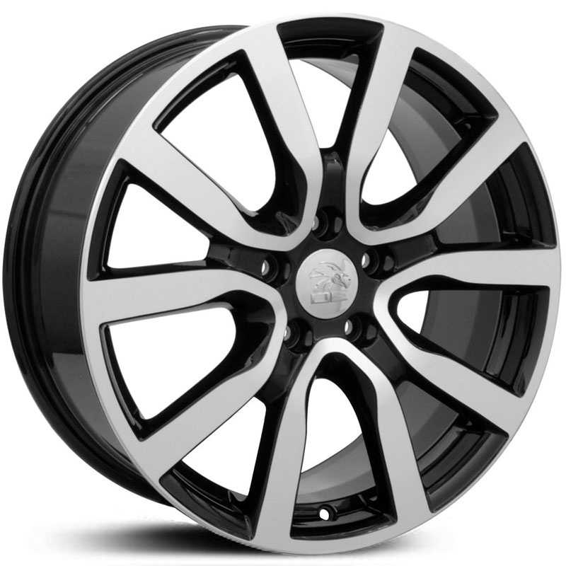 Volkswagen Golf (VW25)  Wheels Black Machined