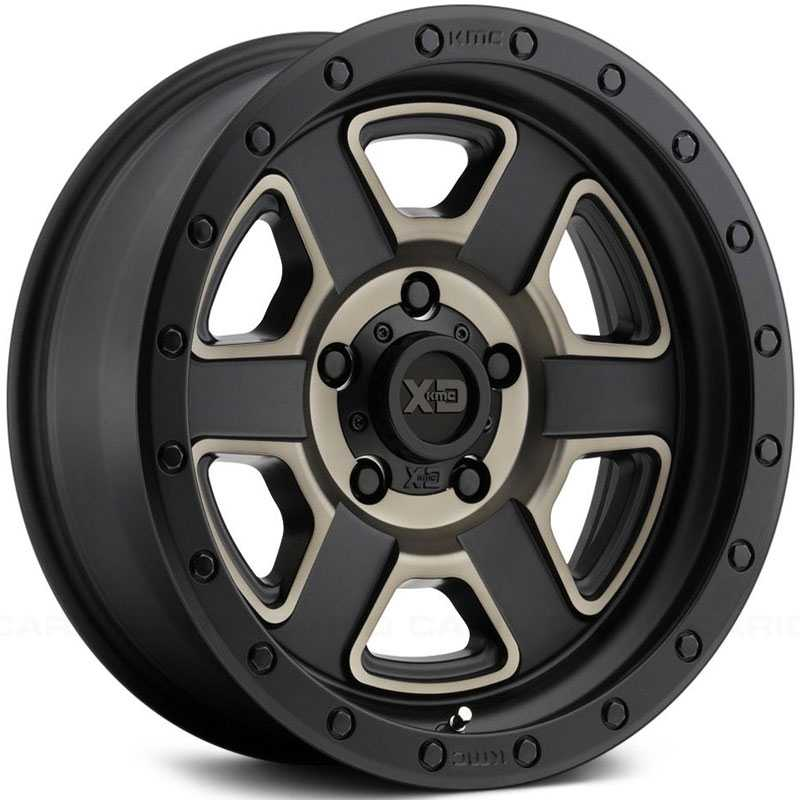 XD Series XD133 Fusion Off-Road Satin Black Machined w/ Dark Tint