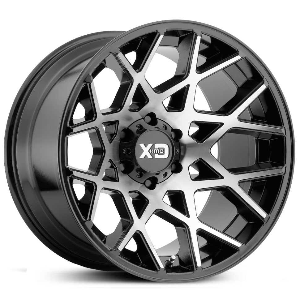 XD Series XD831 Chopstix  Wheels Gloss Black Machined