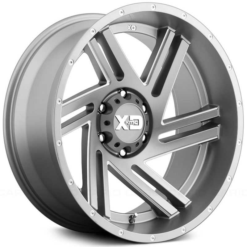 XD Series XD835 Swipe Satin Gray Milled