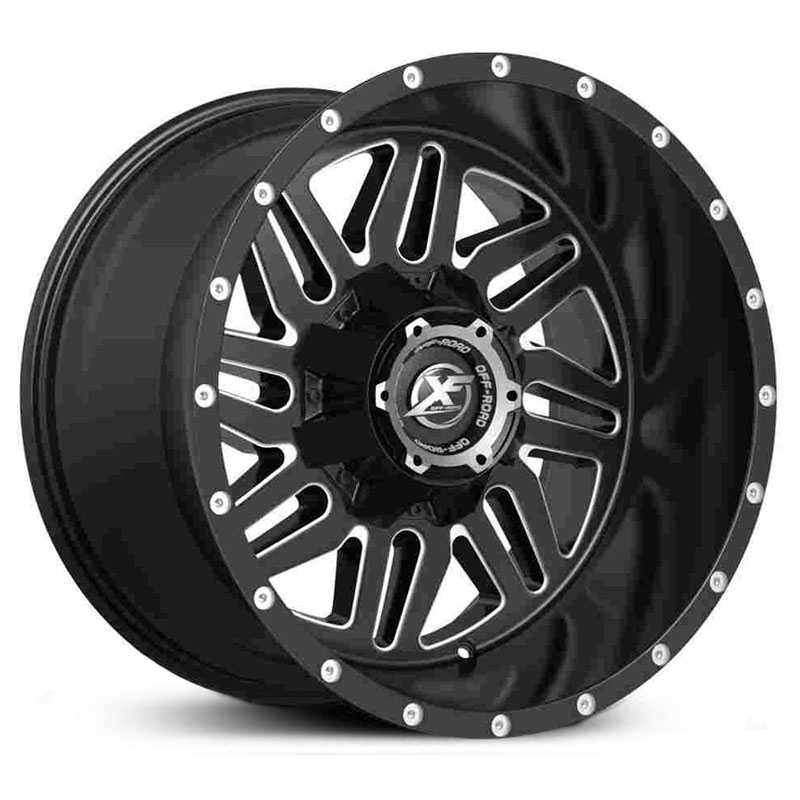 XF Offroad XF-201  Wheels Matte Black Milled