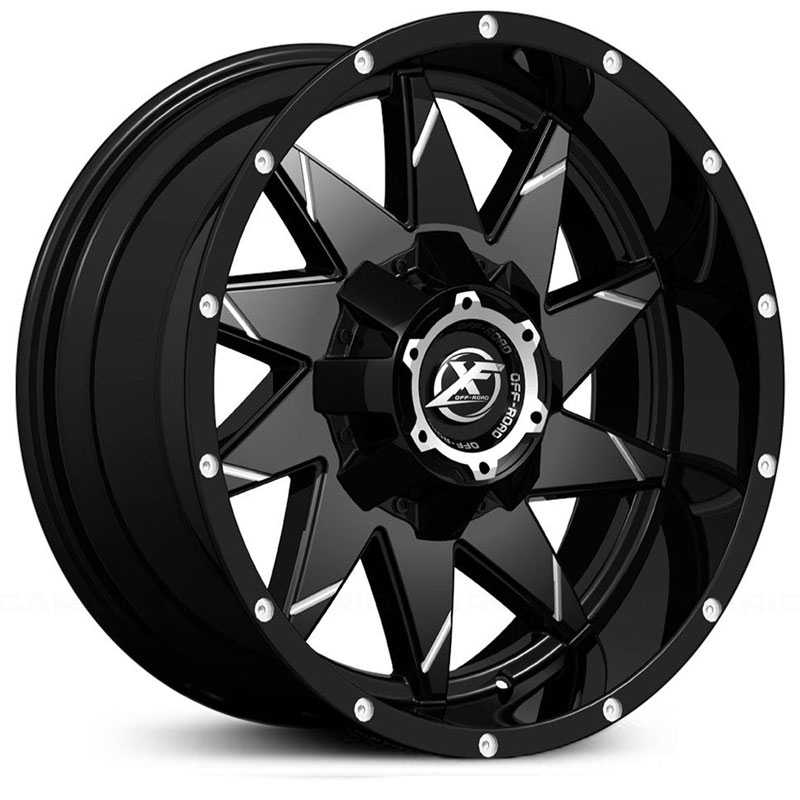 XF Offroad XF-208  Wheels Matte Black Milled