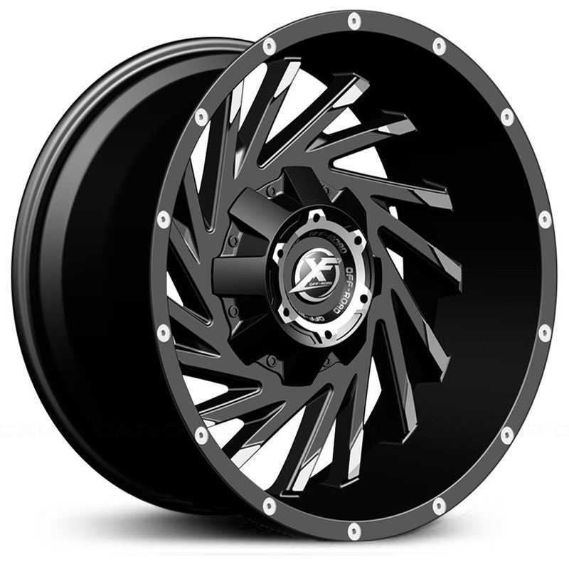 XF Offroad XF-209  Wheels Matte Black Machine