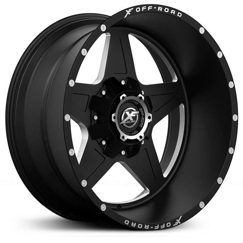 XF Offroad XF-210  Wheels Matte Black Milled