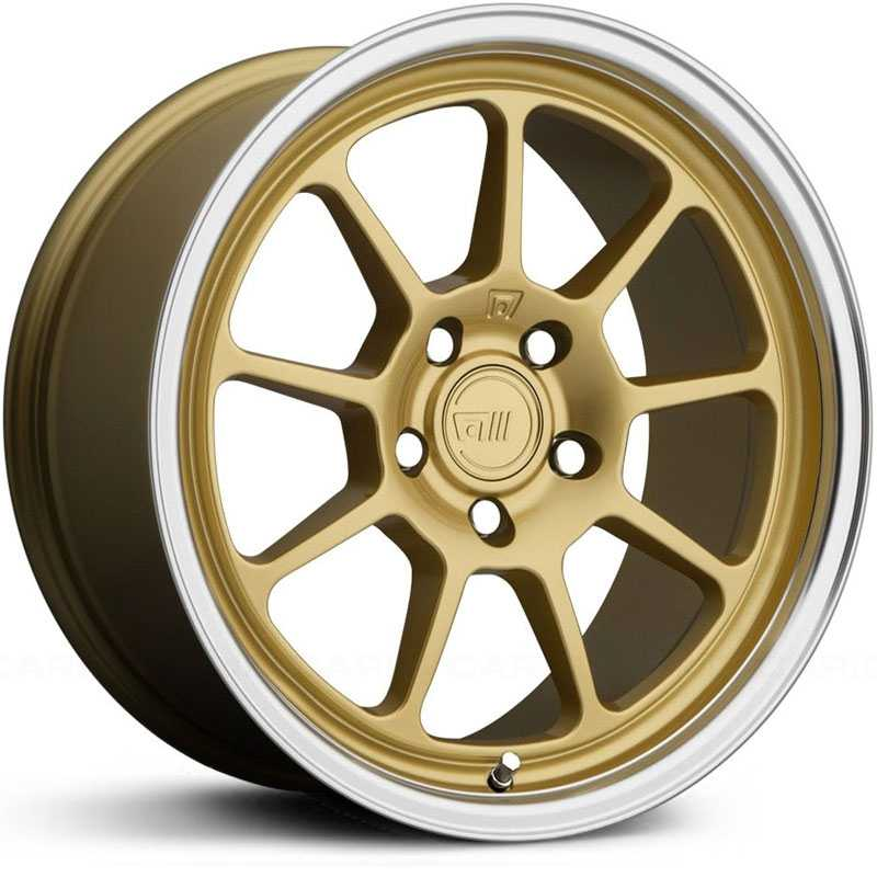 Motegi Racing MR135  Wheels Gold Center w/ Machined Lip