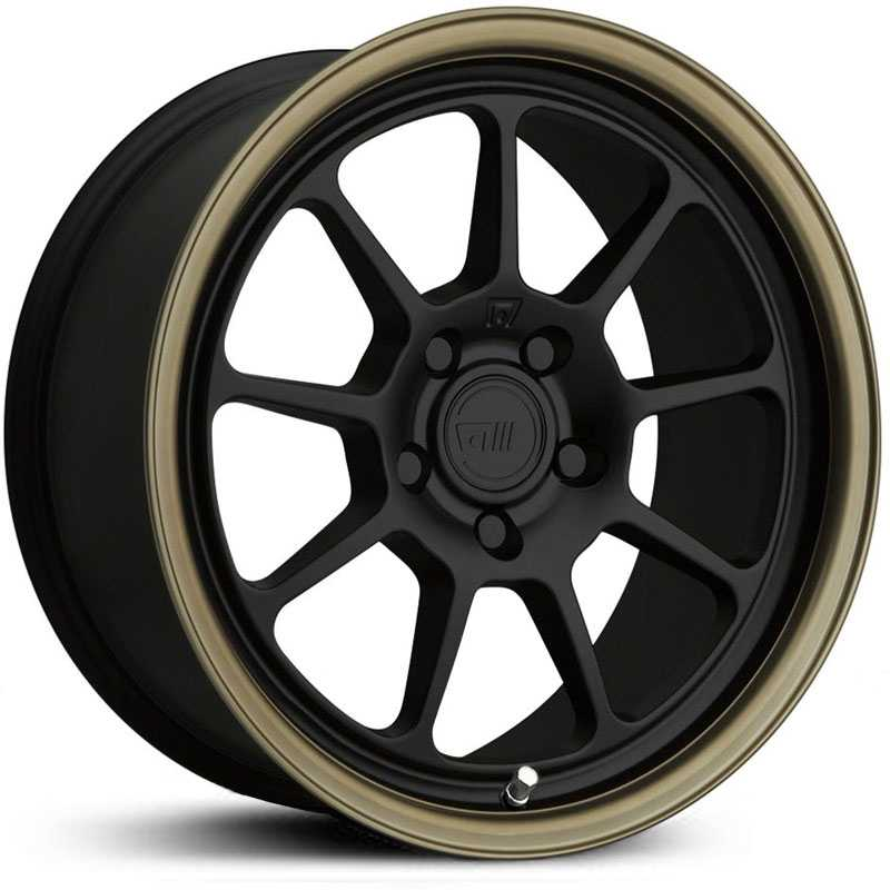 Motegi Racing MR135  Wheels Matte Black Center w/ Bronze Lip