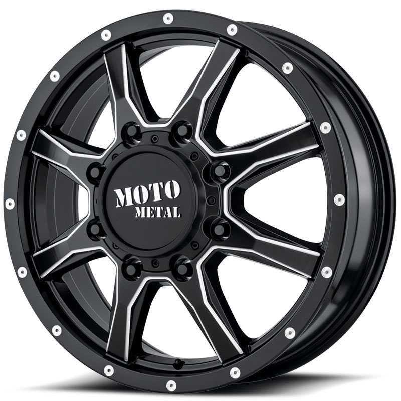 MO995 Satin Black Milled Dually Front