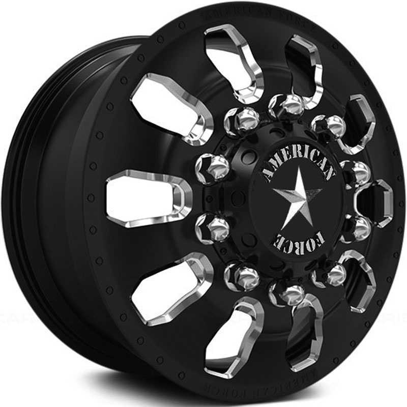 American Force Dually Avid  Wheels Black & Machined Windows