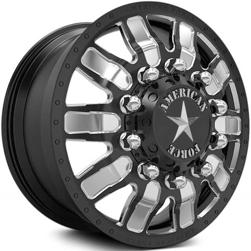 American Force Dually Sector  Wheels Black & Machined Windows