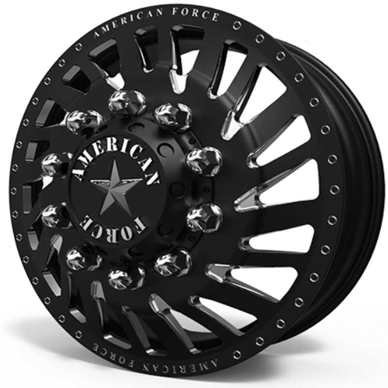 American Force Dually Thrust  Wheels Black & Machined Windows