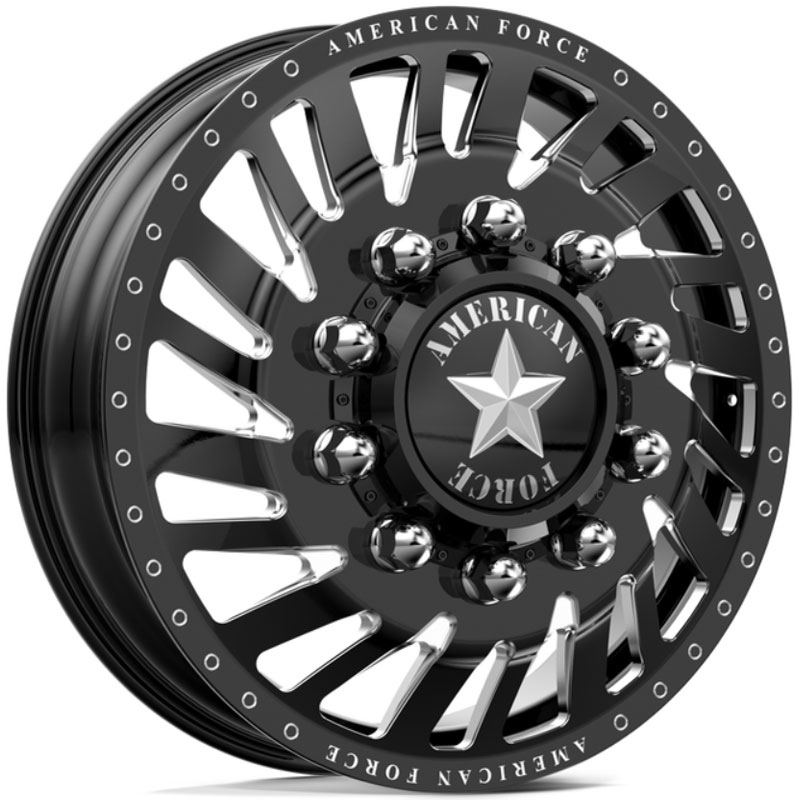 American Force Dually Thrust  Wheels Black & Milled Windows