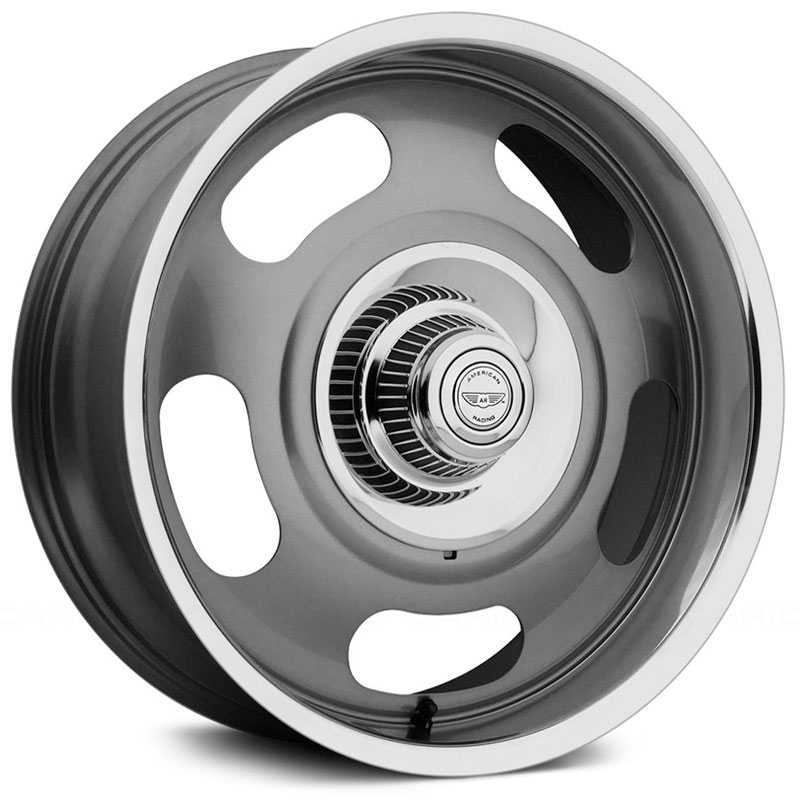 American Racing Vintage VN506  Wheels Mag Gray Center Polished Lip