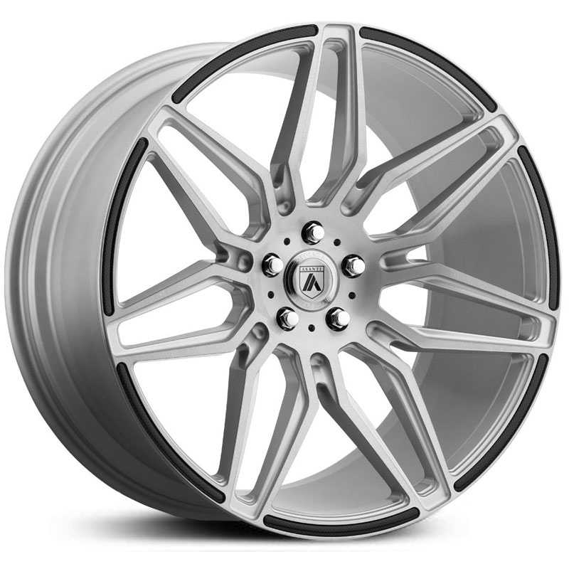 Asanti Black Label ABL-11  Wheels Silver w/ Carbon Fiber Insert