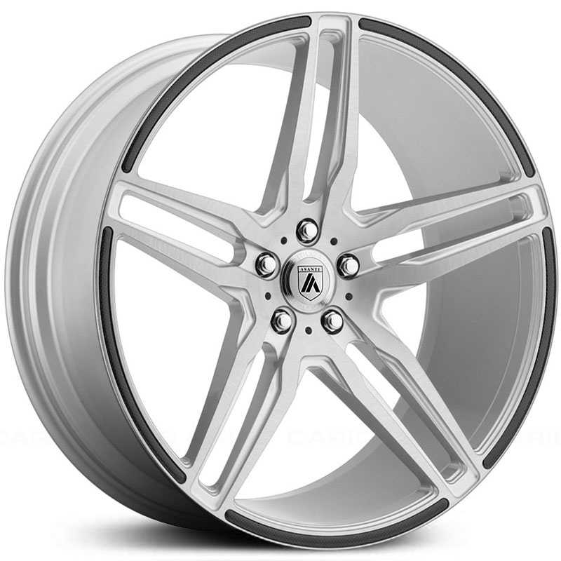 Asanti Black Label ABL-12  Wheels Brushed Silver w/ Carbon Fiber Insert