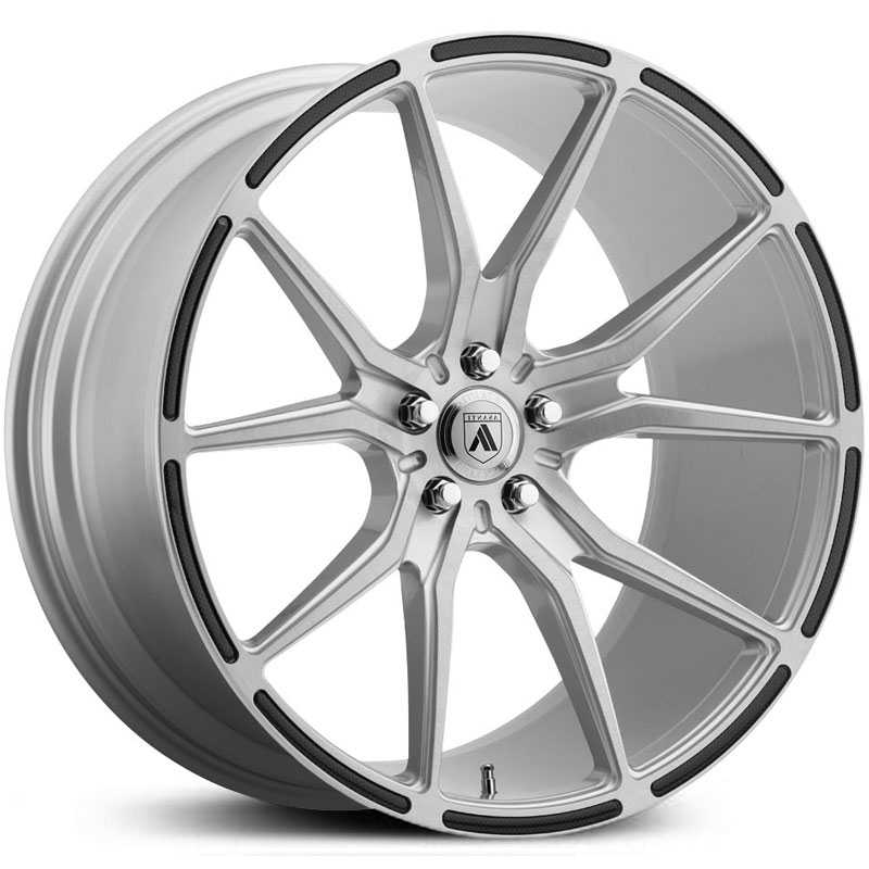 Asanti Black Label ABL-13  Wheels Brushed Silver w/ Carbon Fiber Insert