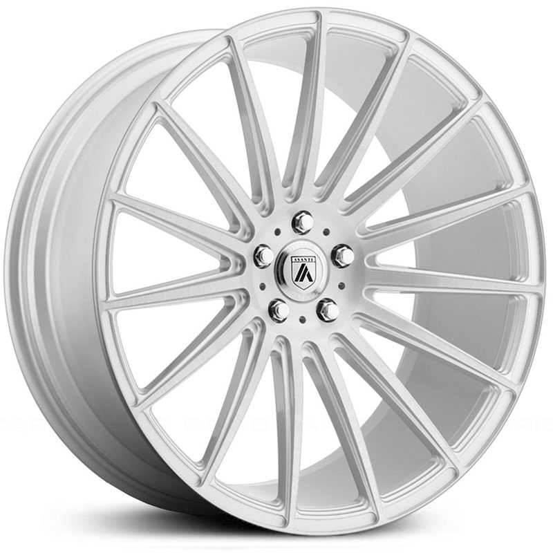 Asanti Black Label ABL-14  Wheels Brushed Silver w/ Carbon Fiber Insert