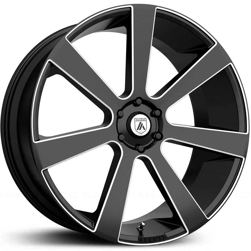 Asanti Black Label ABL-15  Wheels Black Milled