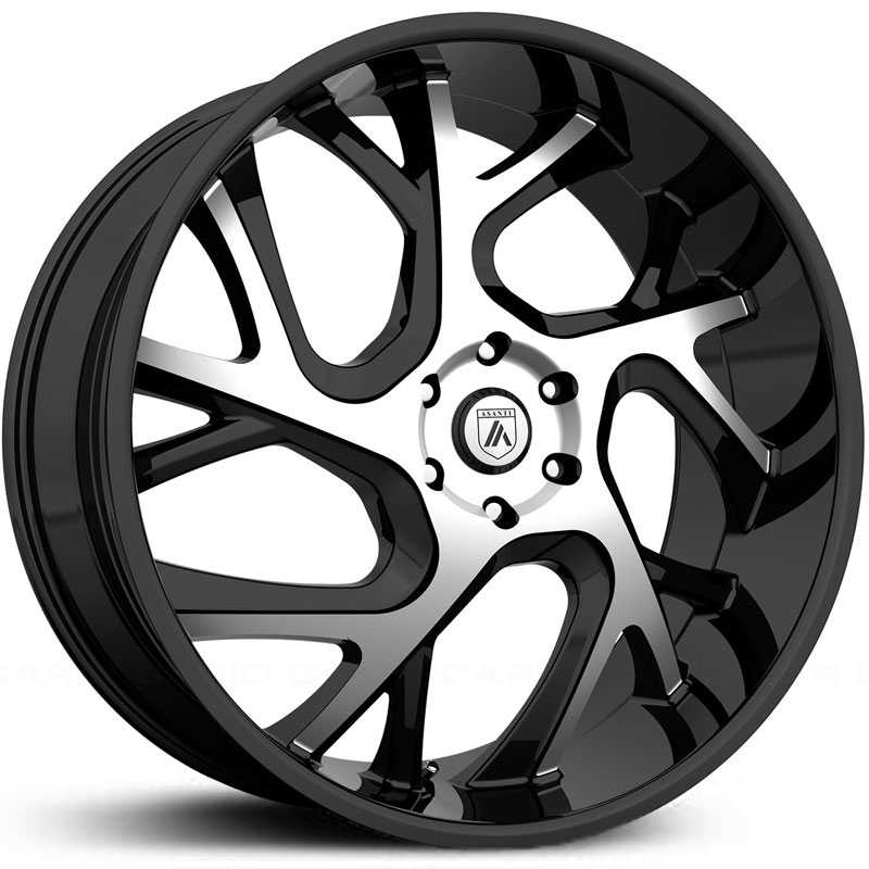 Asanti Black Label ABL-16  Wheels Gloss Black Machined