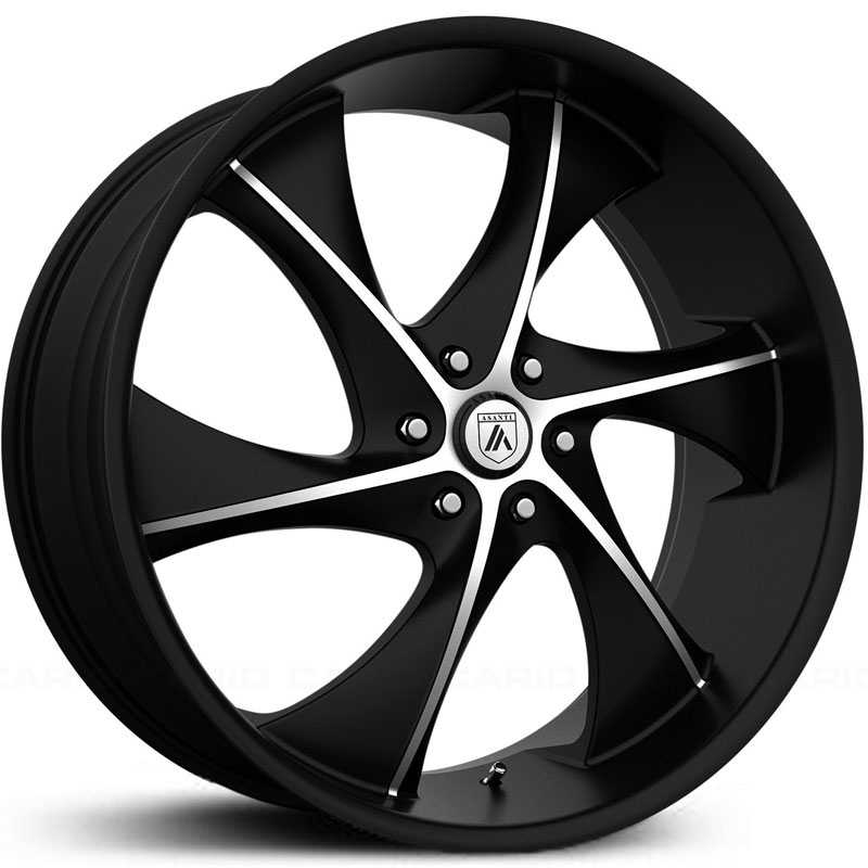 Asanti Black Label ABL-17  Wheels Satin Black Machined