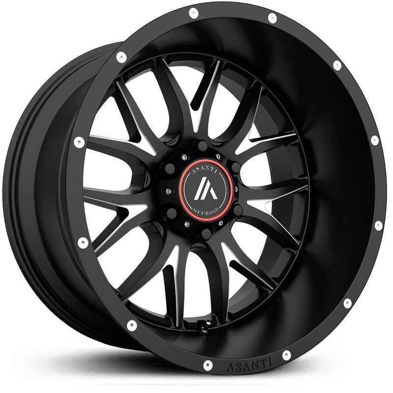 Asanti Off-Road AB807  Wheels Satin Black