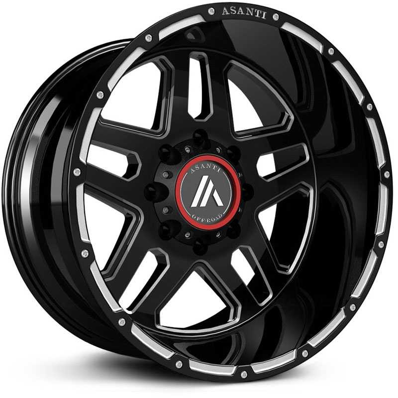 Asanti Off-Road AB809 Gloss Black Milled