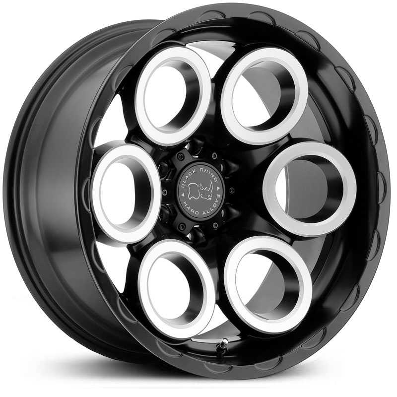 Black Rhino Magnus  Wheels Matte Black Matte Machine Face Milled Windows