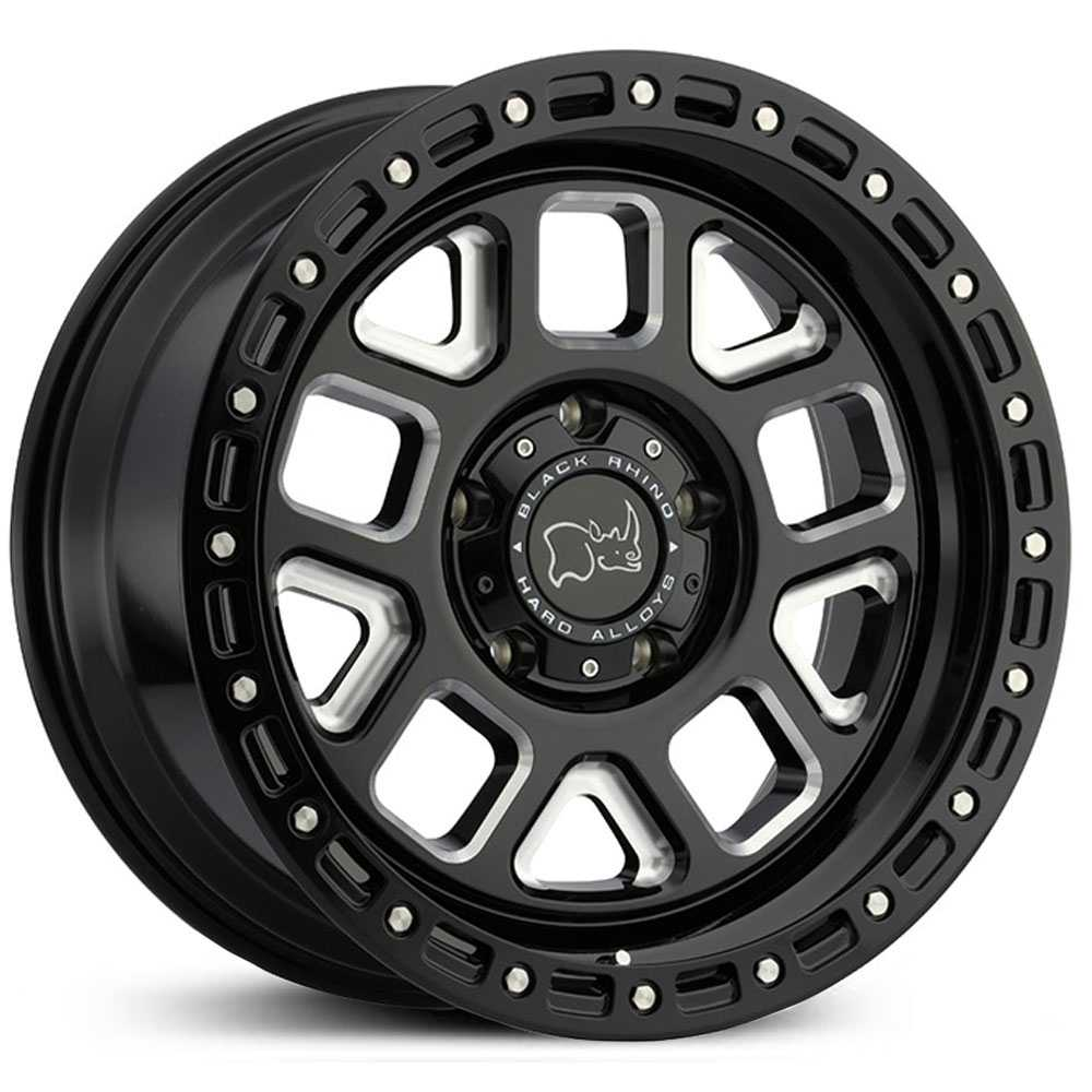 Black Rhino Alpine  Wheels Gloss Black Milled Spokes