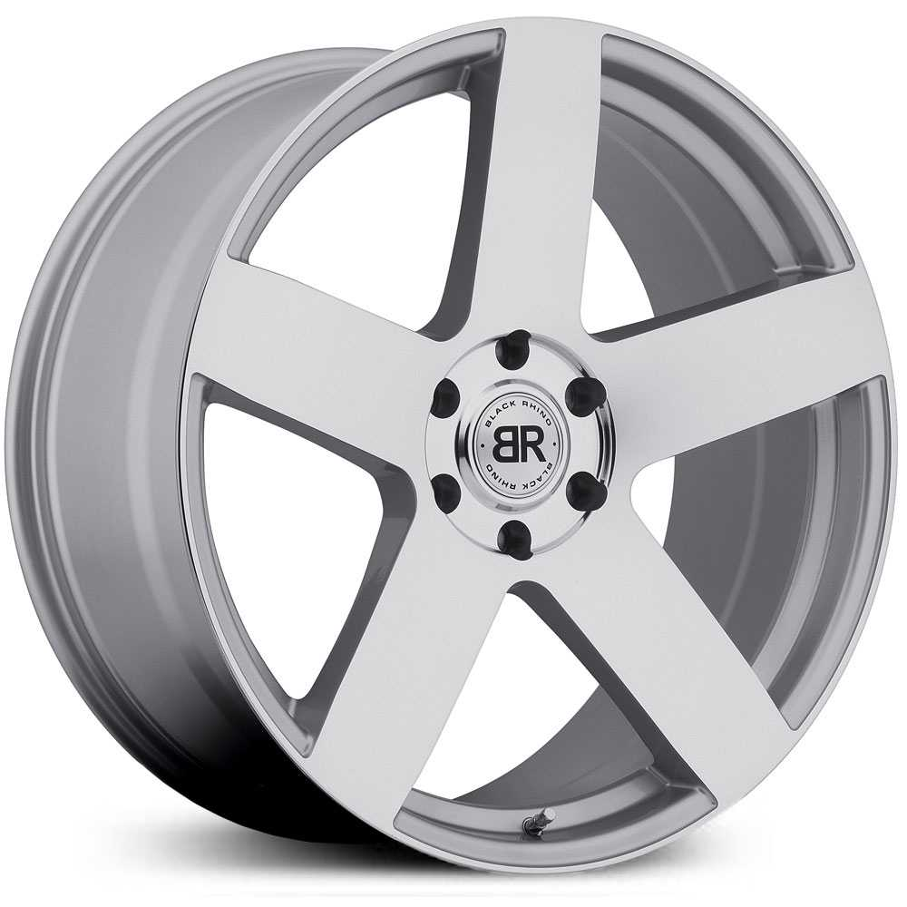 Black Rhino Everest  Wheels Silver Mirror Cut Face