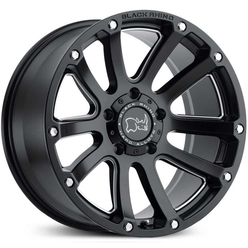 Black Rhino Highland  Wheels Matte Black Milled Windows