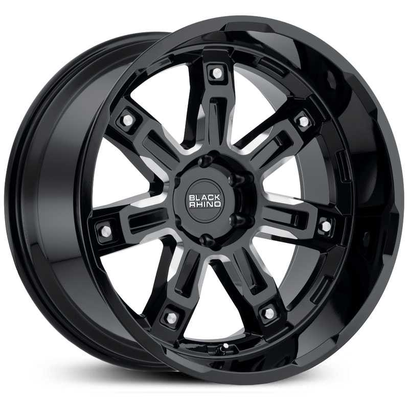 Black Rhino Locker  Wheels Gloss Black Milled Spokes